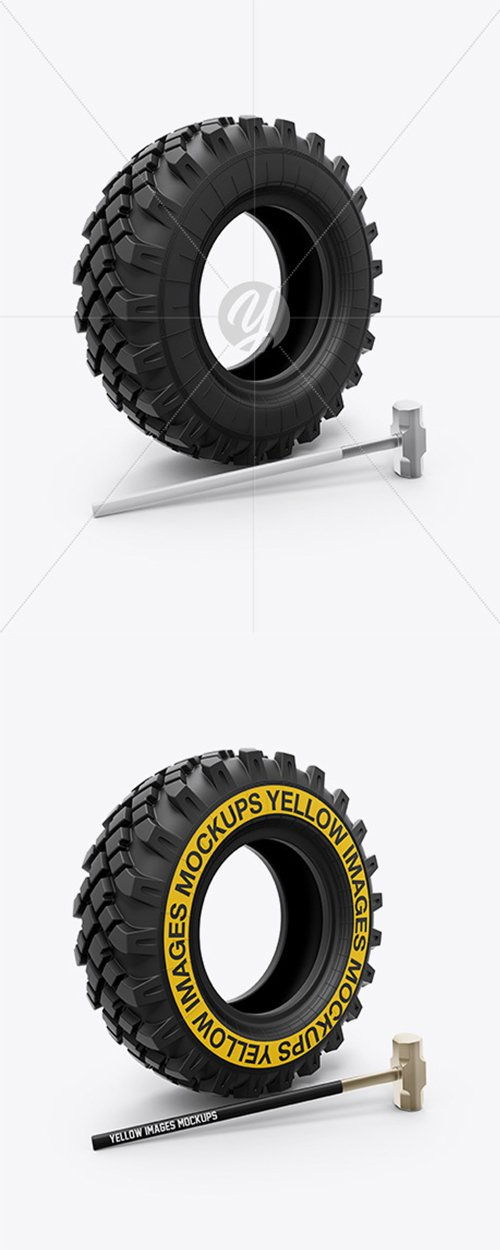 Crossfit Tire and Hammer Mockup 35176 TIF