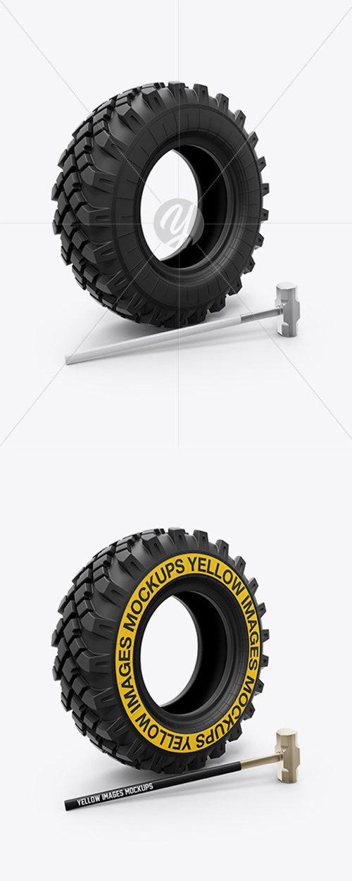 Crossfit Tire and Hammer Mockup 35176 TIF