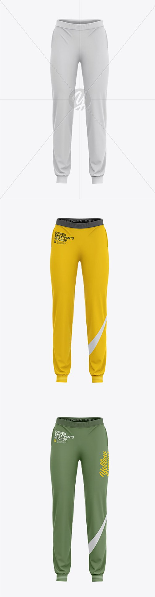 Womens Cuffed Sweatpants Mockup - Front View 34960 TIF