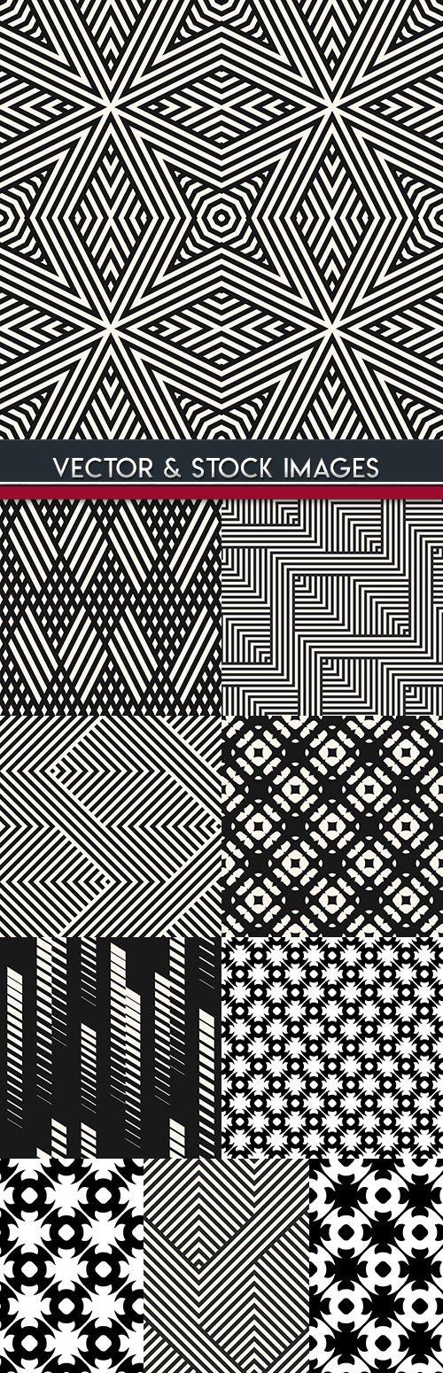 Modern geometric abstract pattern black design 28