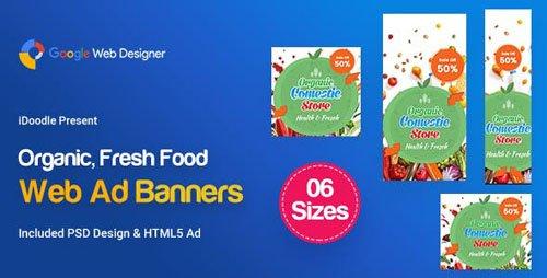 CodeCanyon - C45 - Organic, Fresh Food Banners GWD & PSD - 23878942