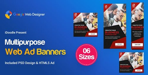 CodeCanyon - C43 - Multipurpose, Business, Startup Banners GWD & PSD - 23878890