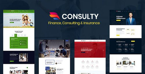 ThemeForest - Consulty v1.0 - Finance Consulting and Insurance HTML Template - 23858704