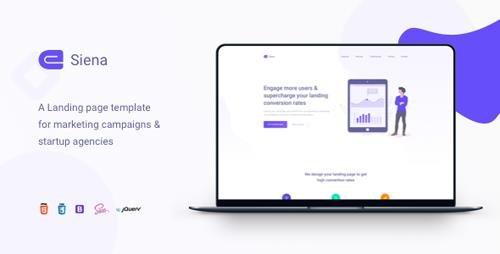 ThemeForest - Siena v1.2 - Marketing Landing Page Template - 23229298