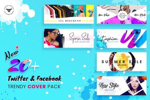 Facebook & Twitter Cover Social Media Templates