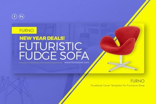 Furno - Furniture Shop Facebook Cover Template v2