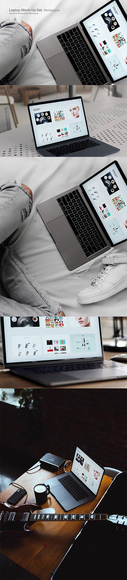 Laptop Touch-Bar Web UI Mock-Up - QVEMJN2