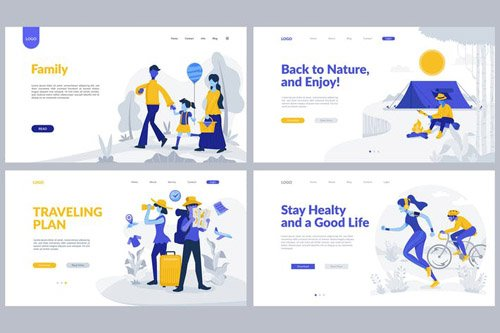 Recreation & Travel Theme Landing Page