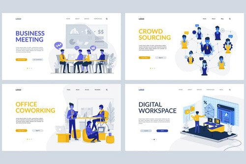 Business Theme - Landing Page Templates