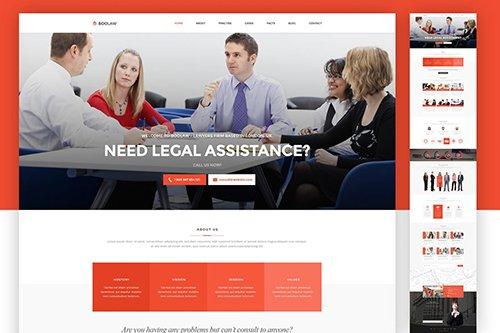 Lawyer Web Template - PSD