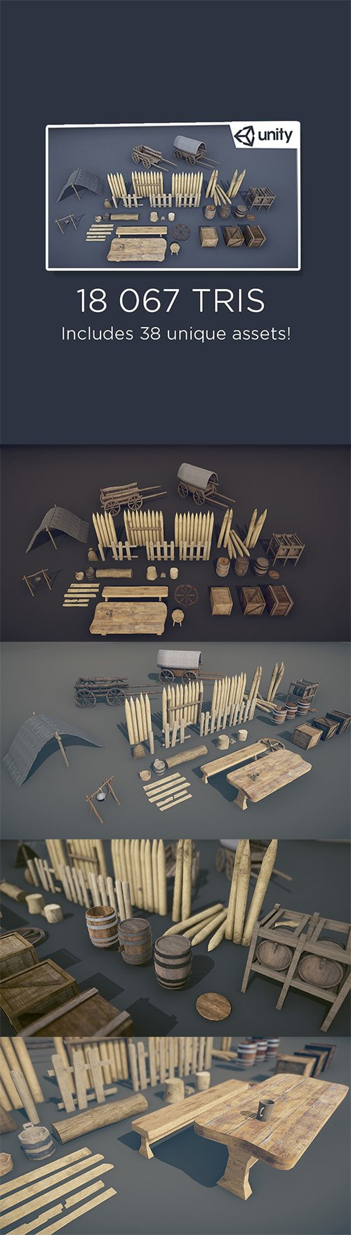 Medieval Props - Mega Pack Low-poly 3D model Low-poly 3D model - Cgtrader