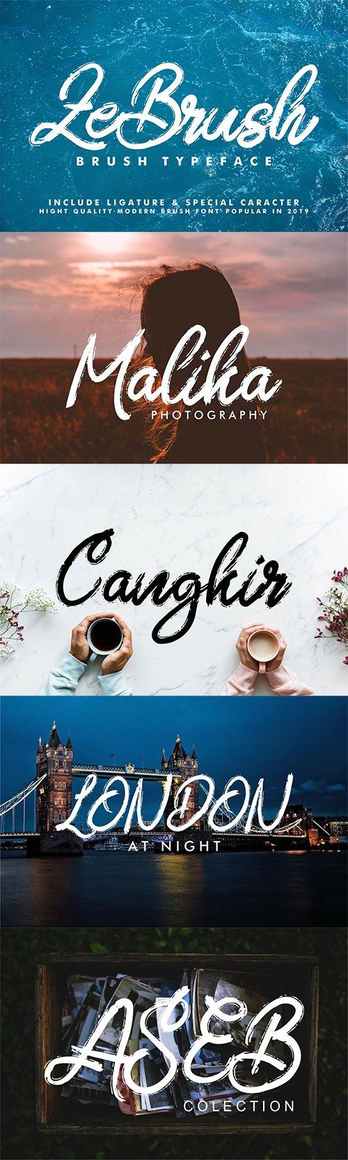 ZeBrush | Brush Script Font