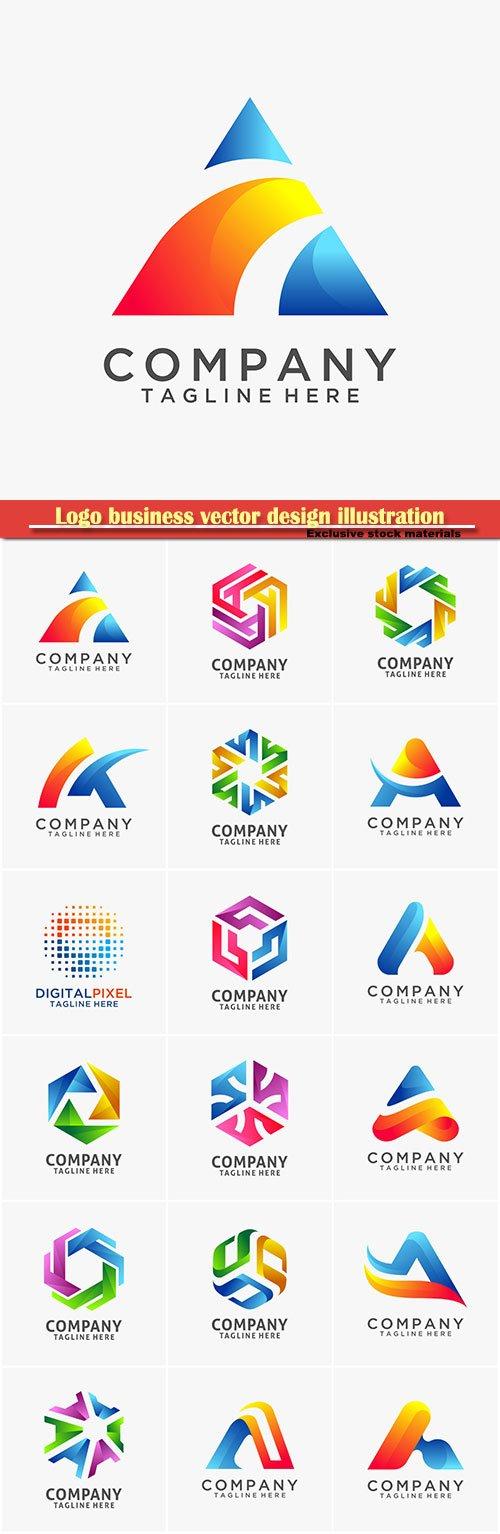 Logo business vector design illustration # 112