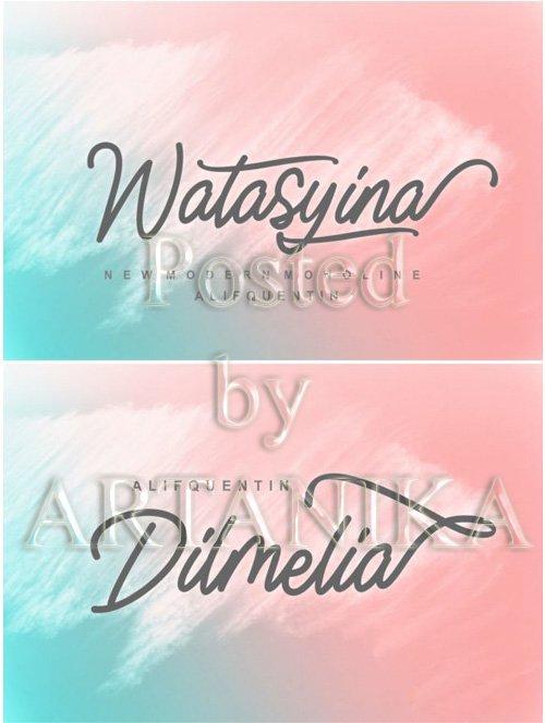 Watasyina Monoline Font