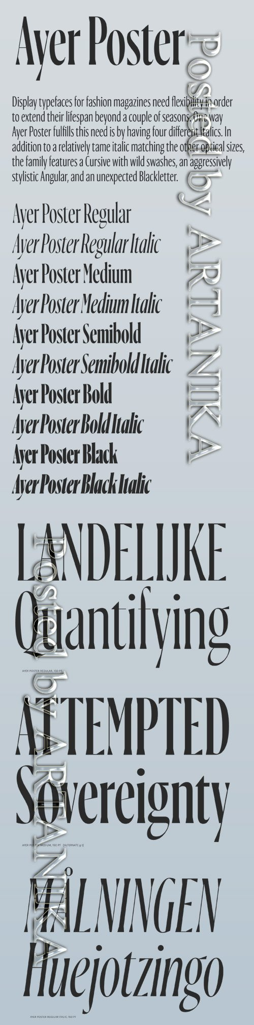 Ayer Poster Font Family