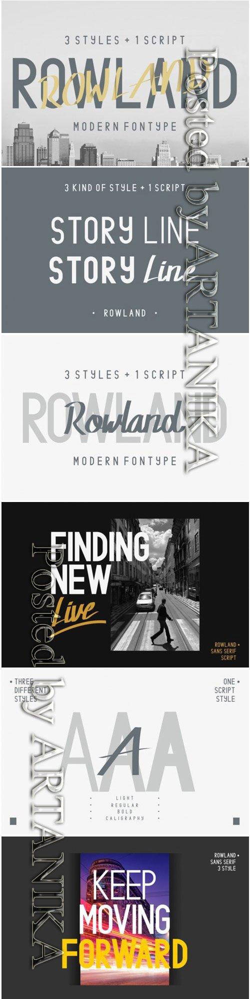 Rowland Modern Font Family