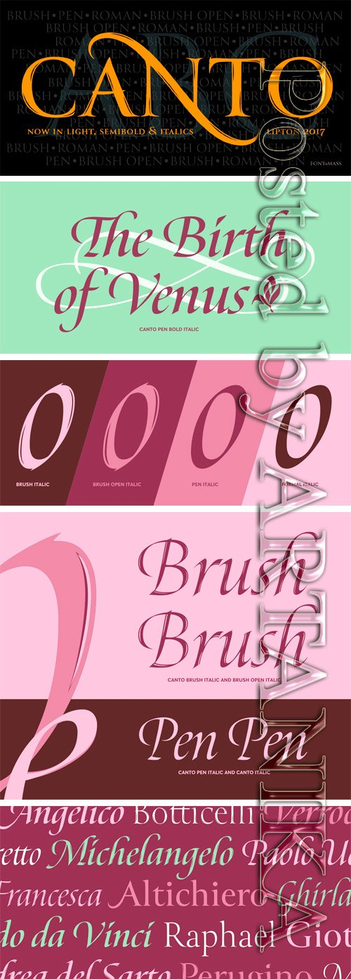 Canto Font Family