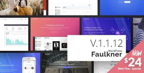 ThemeForest - Faulkner v1.1.12 - Responsive Multiuse WordPress Theme for Companies and Freelancers - 22686458