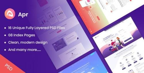 ThemeForest - APR v1.0 - Tech Digital Product Landing PSD Template - 23853845