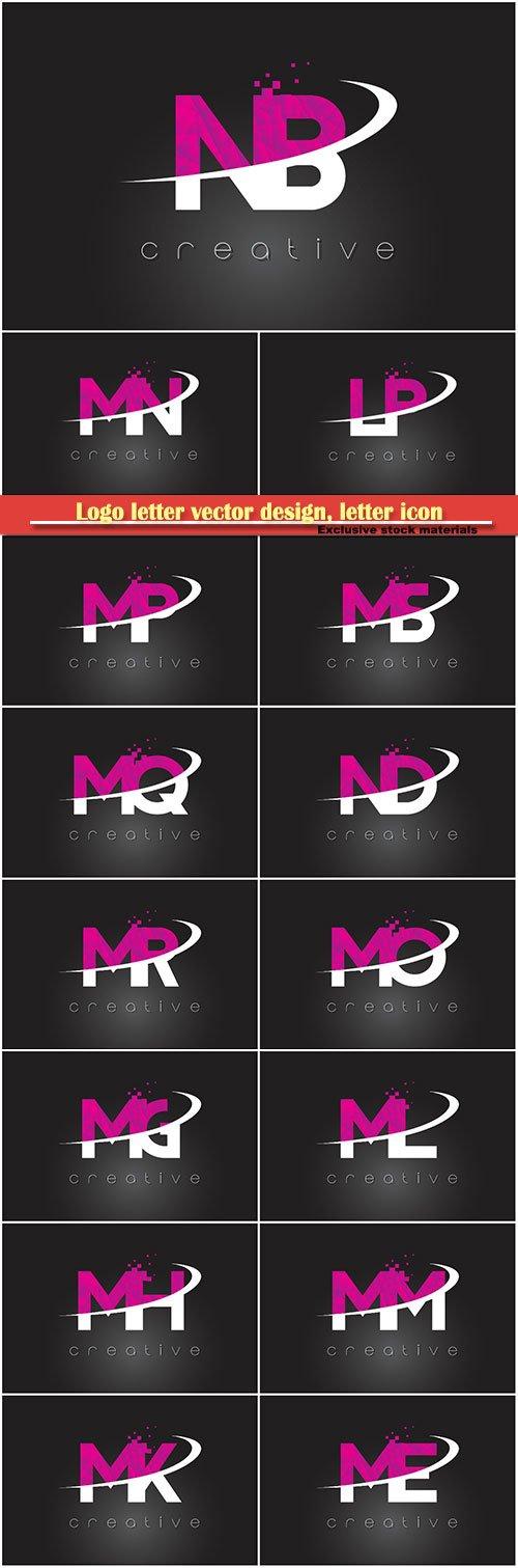 Logo letter vector design, letter icon # 34