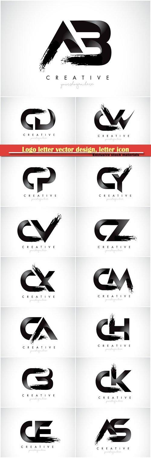 Logo letter vector design, letter icon # 37