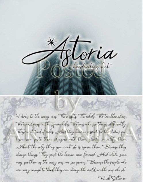 Astoria Font