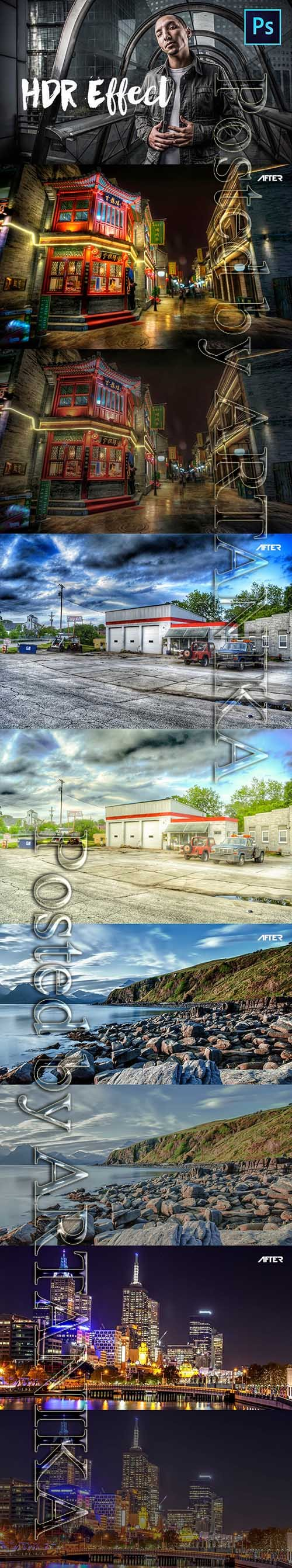 HDR Photoshop Actions | Photo Effects 21110521