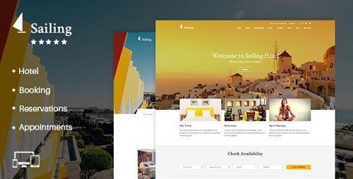 ThemeForest - Hotel WordPress Theme | Sailing Hotel v4.0 - 13321455 - NULLED