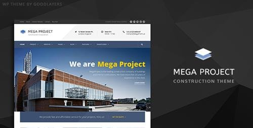 ThemeForest - Construction WordPress Theme For Construction Company | Mega Project v1.22 - 10620770
