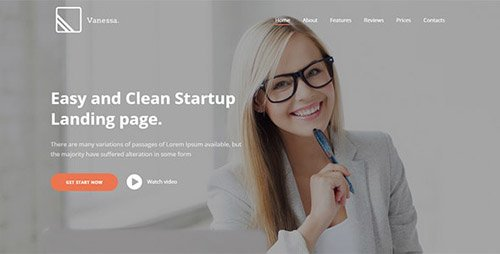ThemeForest - Vanessa v1.0.6 - Easy Startup Landing Page WP Theme (Update: 3 May 19) - 16224390