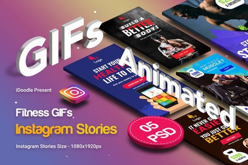Animated GIFs Gym & Fitness Instagram Stories - 3F97MLY