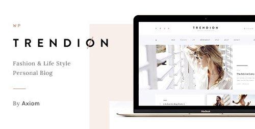 ThemeForest - Trendion v1.1.2 - A Personal Lifestyle Blog and Magazine WordPress Theme - 20836804