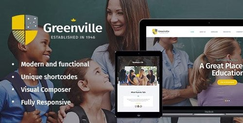 ThemeForest - Greenville v1.3.1 - A Private School WordPress Theme - 21045935