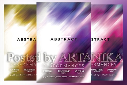 Abstract Flyer 2080475