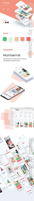 Trendy Shopping eCommerce UI/UX KIT
