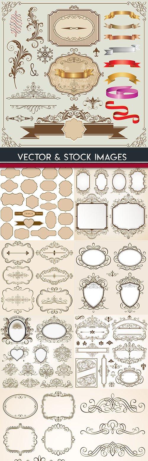 Elegant decoration frame calligraphic and design element