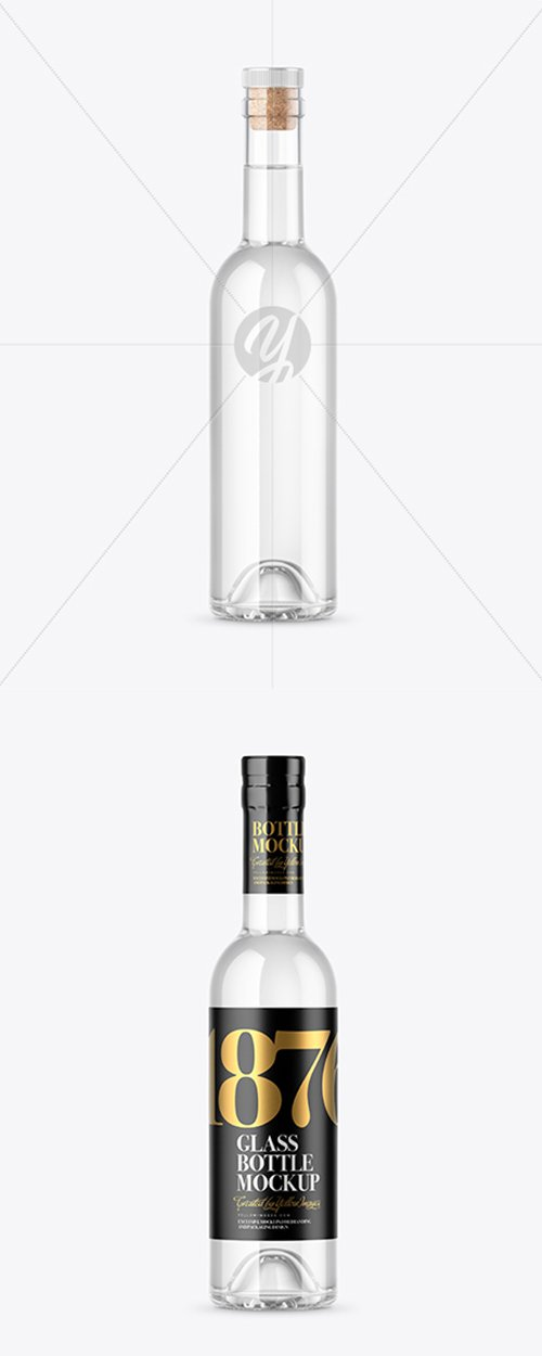Clear Glass Vodka Bottle Mockup 42854 TIF