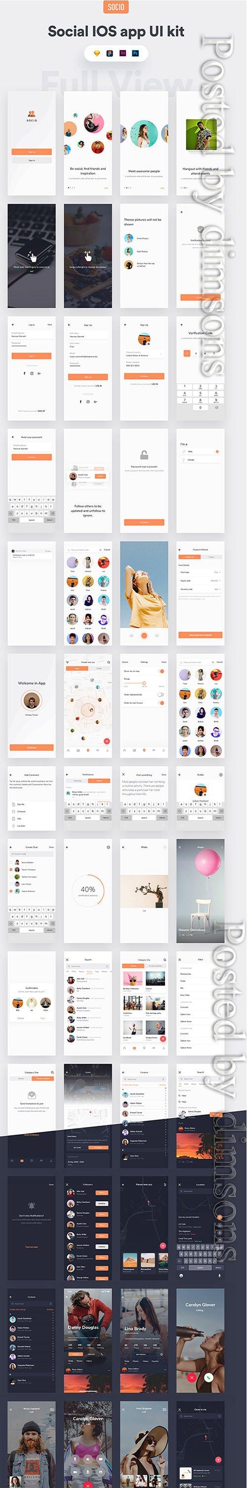 Socio IOS app ui kit