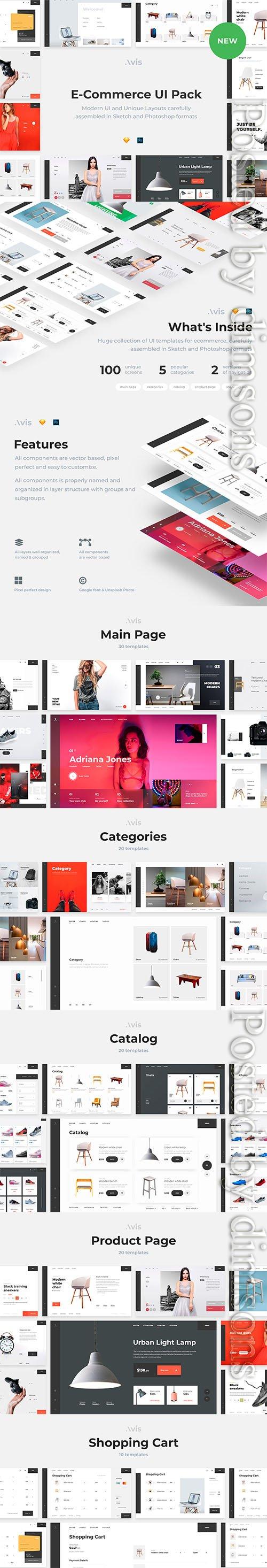 Avis - E-Commerce UI Pack