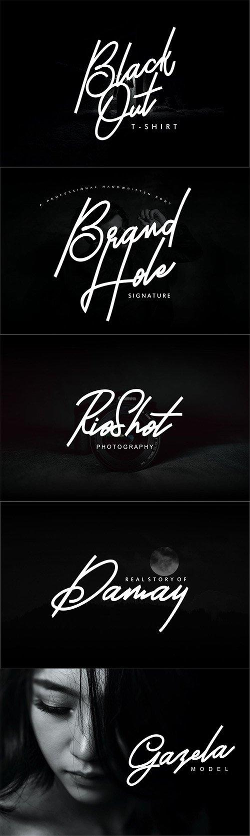 Brand Hole   Handwritten Signature Font
