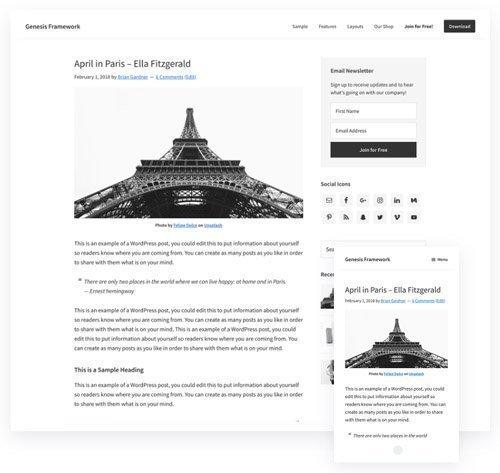 Genesis Framework v2.10.1 - WordPress Theme - StudioPress