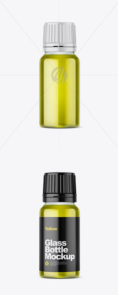 Clear Glass Bottle with Oil Mockup 42814 TIF