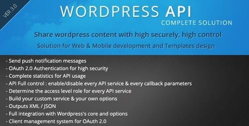 CodeCanyon - SMIO Wordpress API Complete Solution v5.3.1 - 6448487
