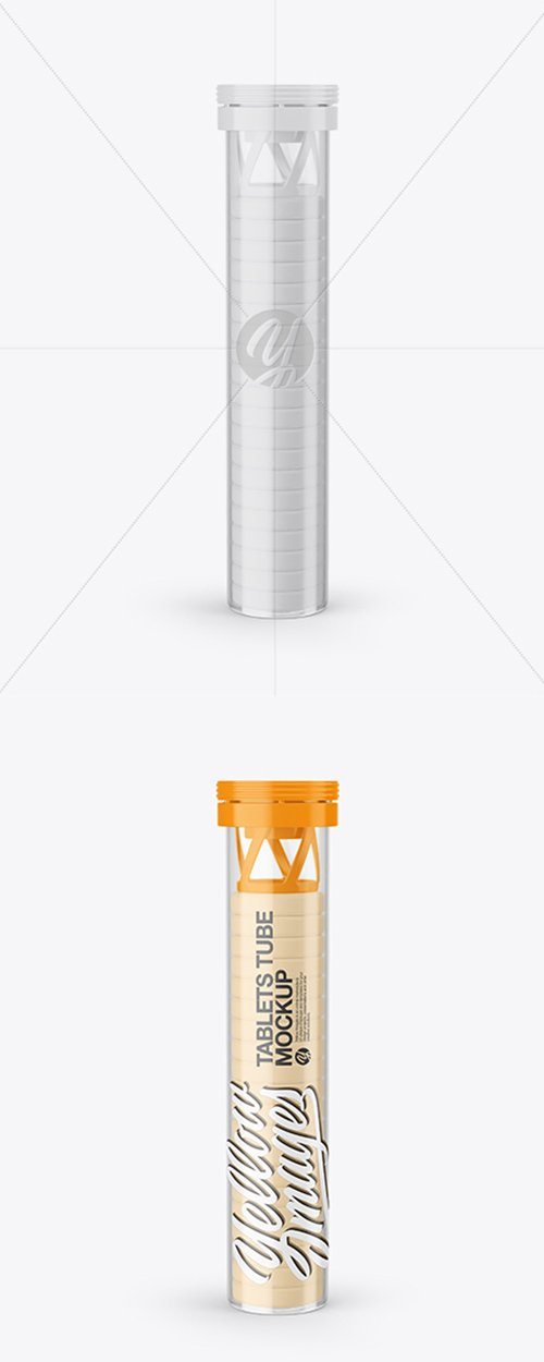 Clear Tube With Tablets Mockup 43068 TIF