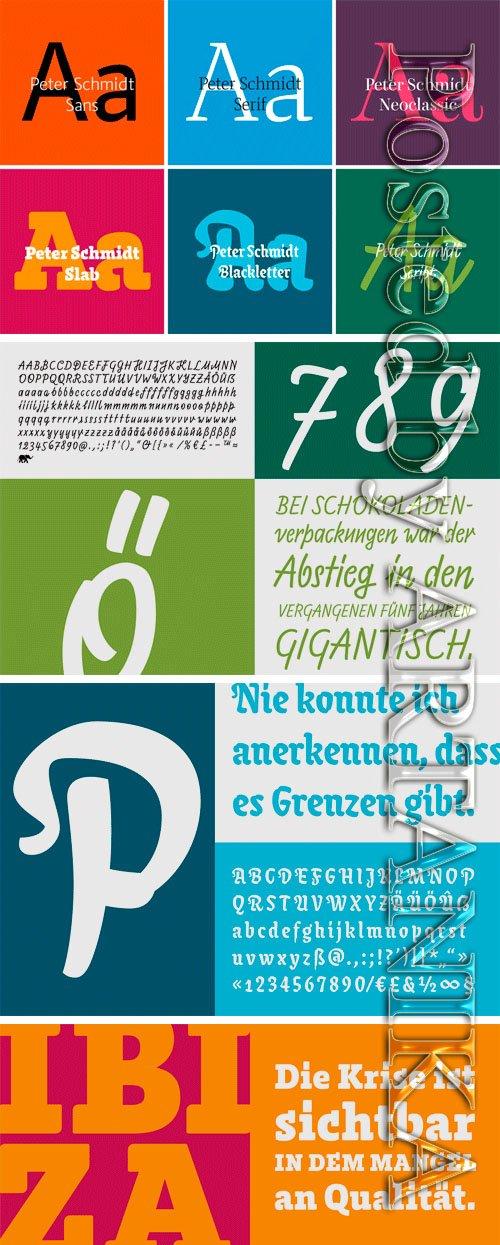 Peter Schmidt Superfamily Font