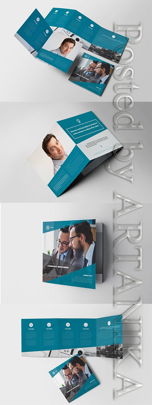 Lorem Square Trifold Brochure Indesign Template