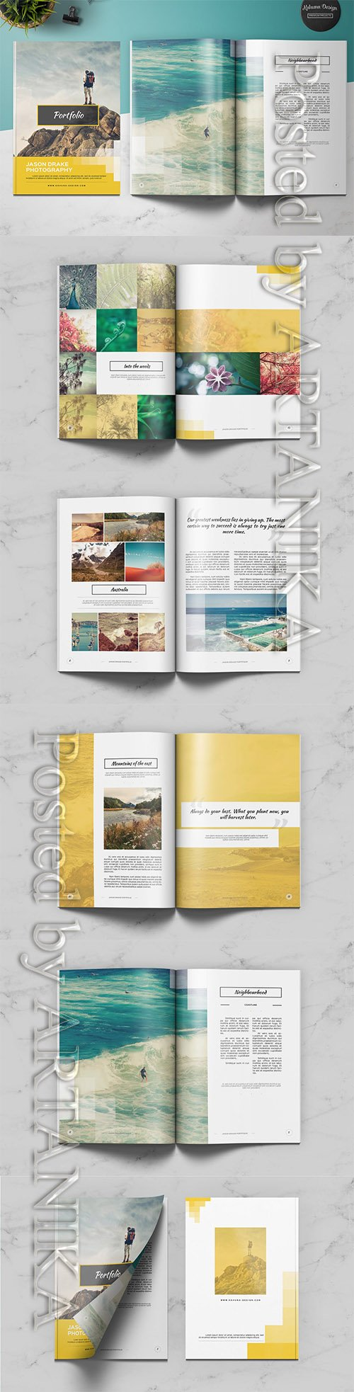 Portfolio Modern Catalog / Brochure Indesign Template
