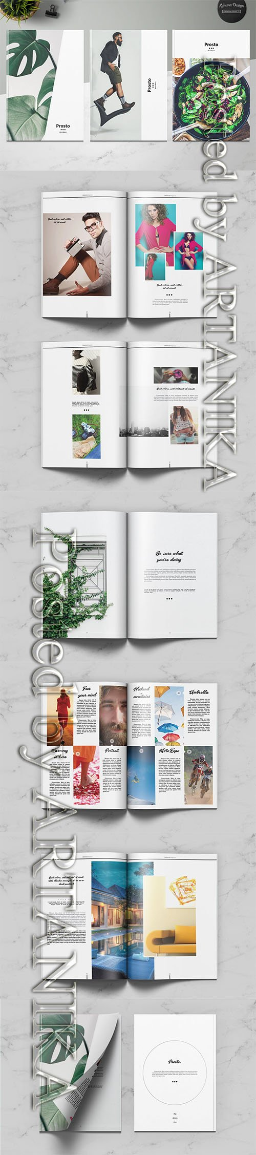 Prosto Universal Magazine Indesign Template