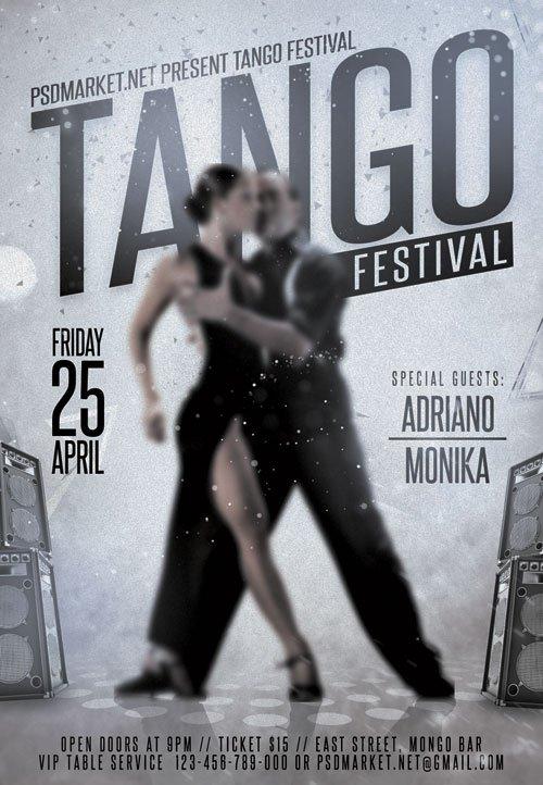 Tango Festival ? Premium Flyer PSD Template