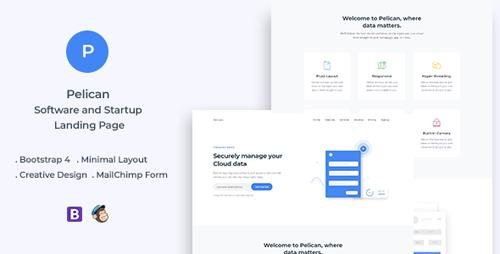 ThemeForest - Pelican v1.0 - Startup and Software Landing Page - 23864790